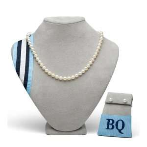 18 White Freshwater Pearl Set (Necklace and Earrings