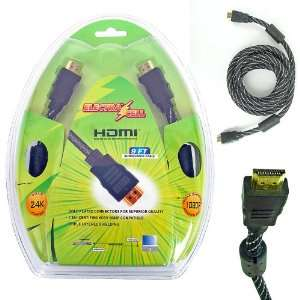 Electra Cell 9 Ft. High Quality Mesh Braided HDMI 1.3