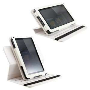 White  Kindle Fire 360° Rotating Leather Case Cover