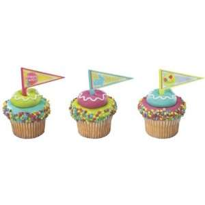 Easter Pennant Cake Cupcake Decorations Pkg of 12 Kitchen