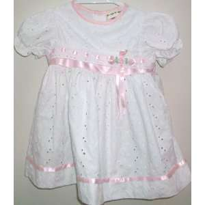 : Baby Girl 24 Months, White Cotton Pretty Dress Frock Adorable: Baby