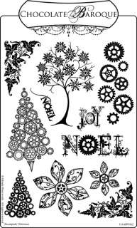 Unmounted Rubber Stamps Steampunk Christmas (Elusive Image)