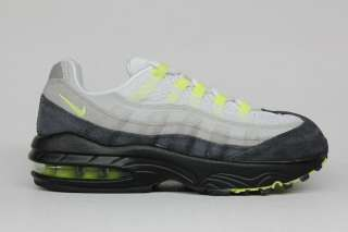 Air Max 95 Cool Grey Neon Yellow Authentic Pre School Sneakers 1.5Y