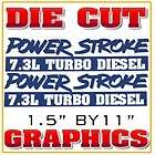 Ford Powerstroke Window Decal Turbo Diesel Graphic Sticker Truck
