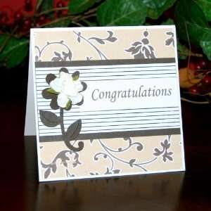 Handmade Classic Elegance Congratulations Card: Office