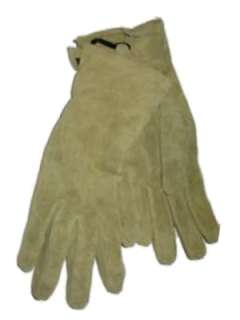 Womens Green Suede Leather Gloves lime