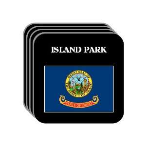 US State Flag   ISLAND PARK, Idaho (ID) Set of 4 Mini