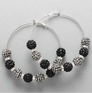 Crystal Fireball Hoop Earrings Basketball Wives POPARAZZI inspired