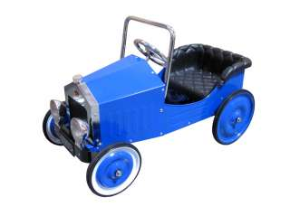 CHILDS CLASSIC VINTAGE BOYS BLUE SPORTS PEDAL CAR RIDE ON TOY
