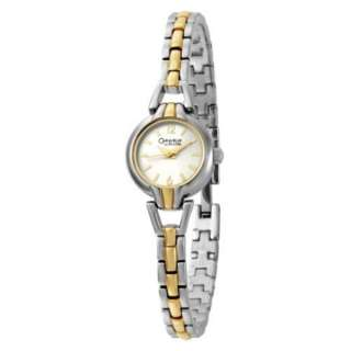 Caravelle by Bulova Womens 45L113 Two Tone Bracelet Round Silver Dial