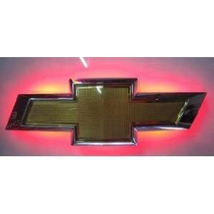 Auto led red and white car logo light for CRUZE 10 Sports