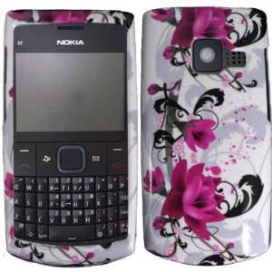 Purple Lily Hard Case Cover for Nokia X2 01 Cell Phones & Accessories