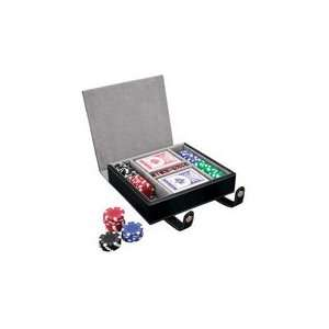 Leather Case Pocker Cards and Chips Set Sports & Outdoors