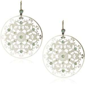 Liz Palacios Plumas Pacific Opal Crystal Silver Circle