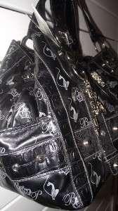 BABY PHAT Black Crown Very Large Handbag Purse Tote Bag NWT $120