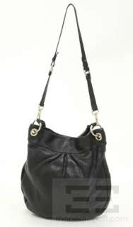 Marc By Marc Jacobs Black Pebbled Leather Hobo Handbag
