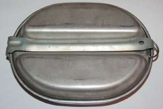 Army WWII   Military Aluminum & Steel Mess Kit   c.1944 Knapp
