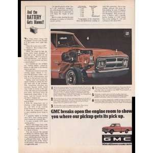 GMC V6 Pickup Trucks 1968 Original Vintage Advertisement