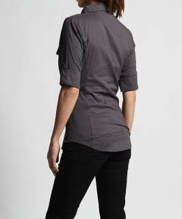 MOGAN Flap Pocket Rolled Sleeve Ribbed Panel SHIRTS Button Down Slim