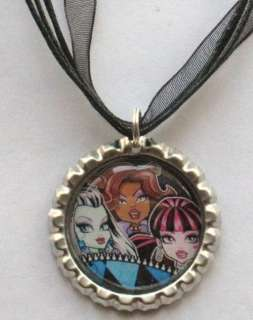 Boutique Bottlecap Necklace MONSTER HIGH GIRLS Party
