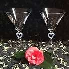LENOX Crystal Frosted Heart Forevermore Martini Glasses (Two)