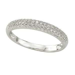 White Gold 1/3 ct. Pave Set Diamond Wedding Band Katarina Jewelry