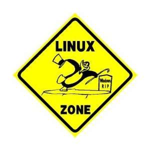 LINUX ZONE computer penguin software NEW sign:  Home