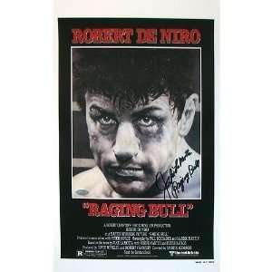 Jake LaMotta Autographed Movie Poster   Raging Bull (11x18