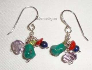 Silpada New Turquoise Amethyst Pearl Peridot Necklace Earrings Set