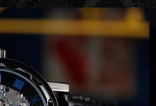 PACIFISTOR Analog Skeleton Black Leather Mens Mechanical Wrist Watch