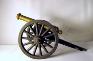 Vintage CAST IRON & BRASS 8.5 Civil War Era Toy CANNON