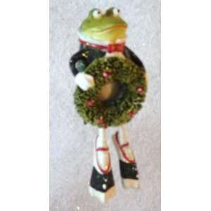 Patience Brewsters Leaping Frog Ornament , Christmas Krinkles