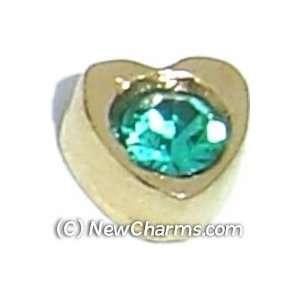 Heart Birthstone December Floating Locket Charm Jewelry