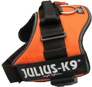 New Julius K9 Original Orange Dog Harness Pet Safety