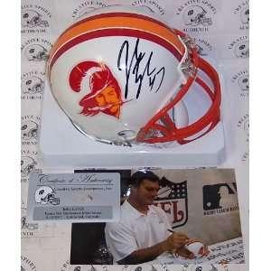 Autographed John Lynch Mini Helmet   Riddell TB Tampa Bay Bucs