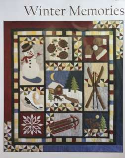Winter Memories Quilt Pattern snowman skis skates