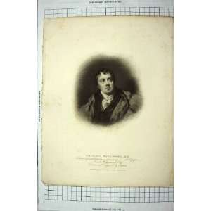 : 1814 PORTRAIT SIR JAMES MACKINTOSH ENGRAVING WILKIN: Home & Kitchen