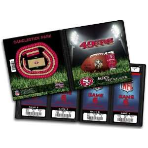 Personalized San Francisco 49ers NFL Ticket Album