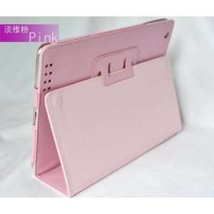 Synthetic Leather Pink Horizontal Flip Stand Case for the Apple iPad