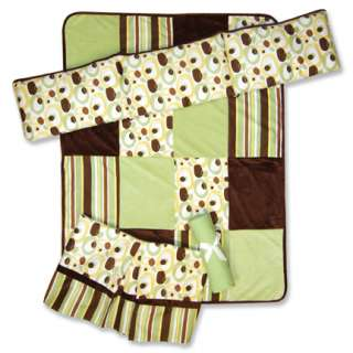Trend Lab Giggles 4 pc Baby Nursery Crib Bedding Set