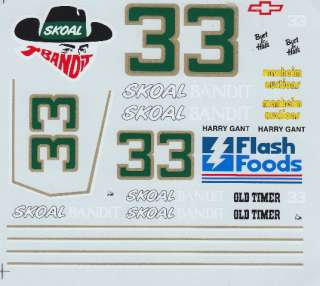 33 Harry Gant Skaol Bandit Old Timers Decals