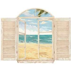 Beach Scene Window Wall Decal