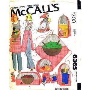 McCalls 6365 Sewing Pattern Kitchen Witch Apron Appliance