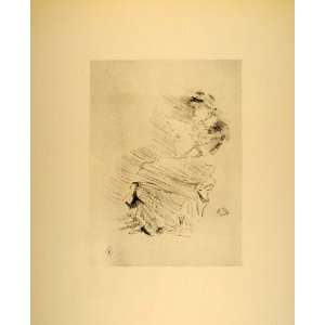 1914 James McNeill Whistler Woman Reading Lithograph