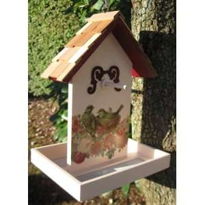 Birds and Roses Hanging Fruit Wild Bird Feeder Patio, Lawn & Garden