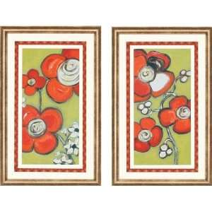 Funky Flowers Wall Art Set Of 2