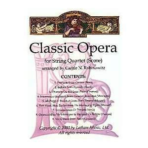 Classic Opera for String Quartet Musical Instruments