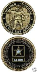 ARMY WOUNDED WARRIOR NO ONE LEFT BEHIND CHALLENGE COIN
