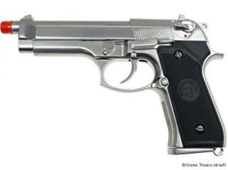 WE FULL METAL Silver M9 Gas Blowback Airsoft Pistol Gun