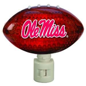 Pack of 2 NCAA Ole Miss Rebels Football Shaped Night